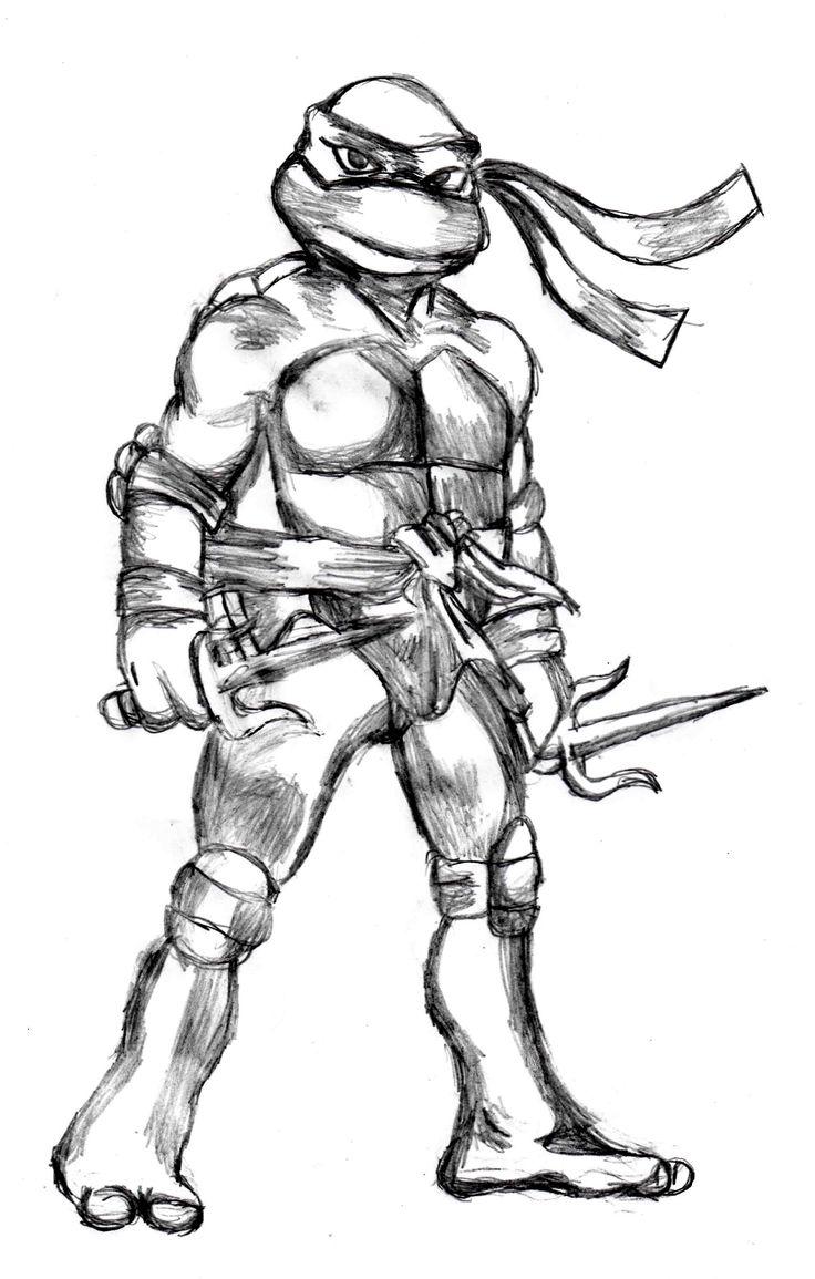 Uncategorized Draw Ninja raphael tmnt drawing httpdrawingmanuals commanualhow to draw ninja turtles cartoons and superheroes pinterest