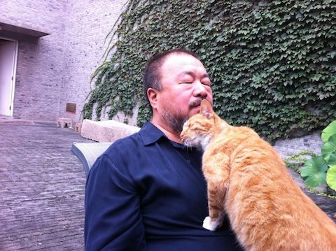 Ai Weiwei with Lai Lai