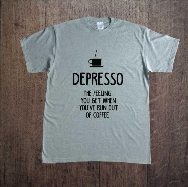 Depresso+Ang,+Męska+koszulka+z+nadrukiem,+w+DDshirt+na+DaWanda.com