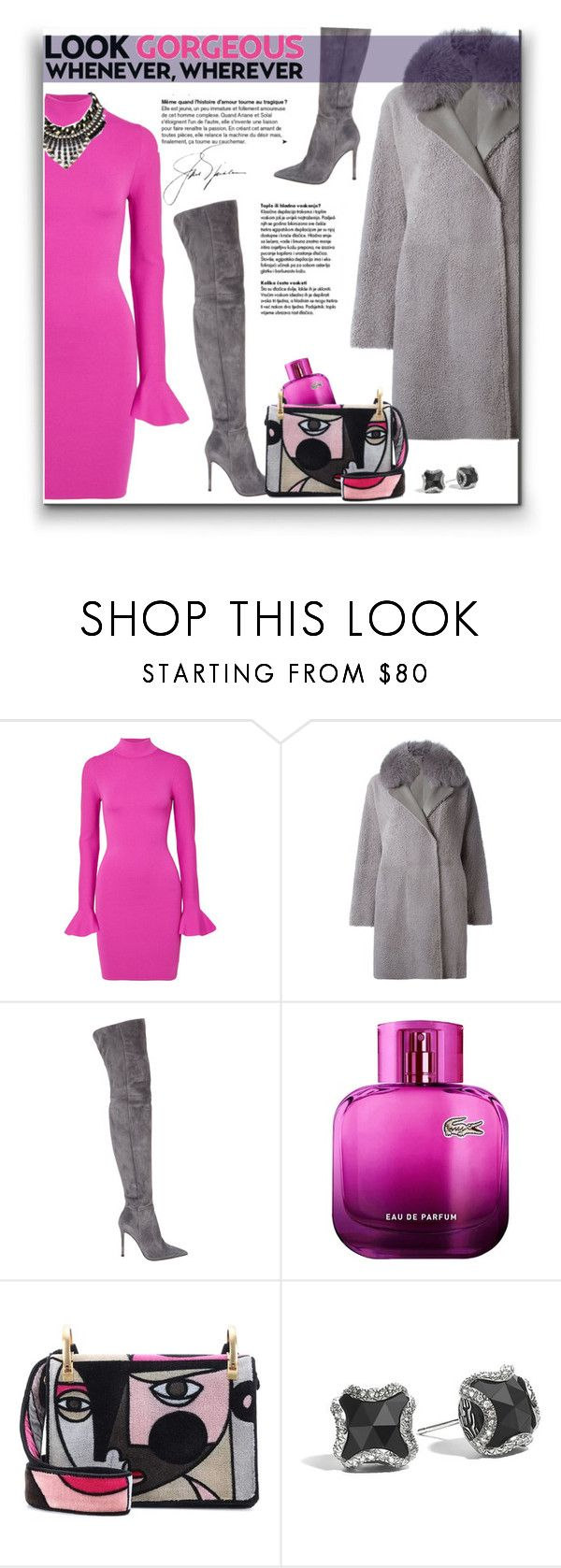 """289. Winter Style with Over-the-knee boots"" by milva-bg ❤ liked on Polyvore featuring MICHAEL Michael Kors, Guy Laroche, Gianvito Rossi, Lacoste and Prada"