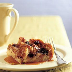 Irish Bread Pudding with Caramel-Whiskey Sauce | MyRecipes.com