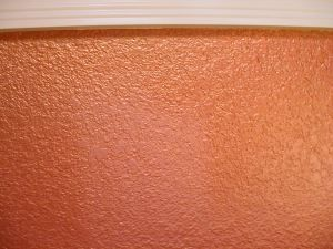 Metallic Paint Adds Shimmer Effect Entry Wall Lounge