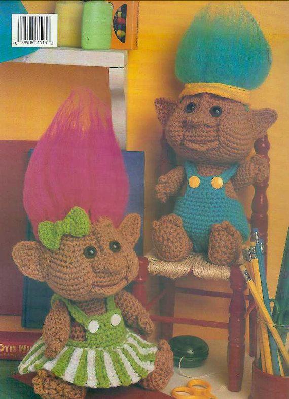 Troll crochet pattern vintage pattern troll doll by jockspatterns