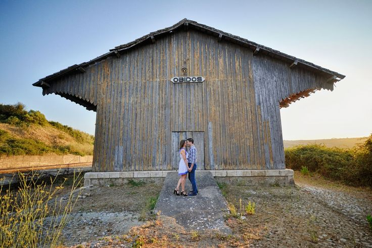 Engagement shoot in Óbidos, Portugal, old train cellar! Meet the train travelling inspiration behind Vânia and Ricardo´s Wedding...  #inspiration #Obidos #goldenhour #engagement #FotodeSonho #wedding #weddingblog #weddingportugal #weddingideas #weddingphotography #weddingphoto #destinationwedding #love #fineartweddings #trainstation  #weddinginspiration #instawedding #destinationweddingphotographer #europeweddingphotographer #rustic #rusticwedding