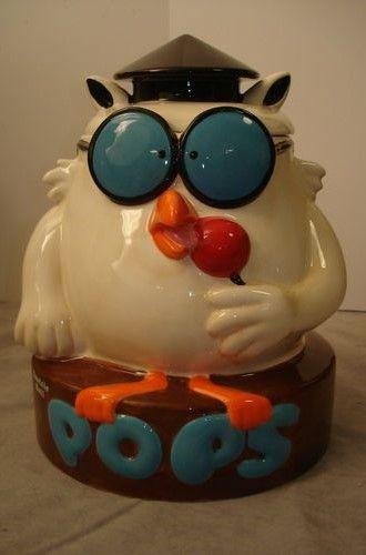 Tootsie Roll Owl Cookie Jar