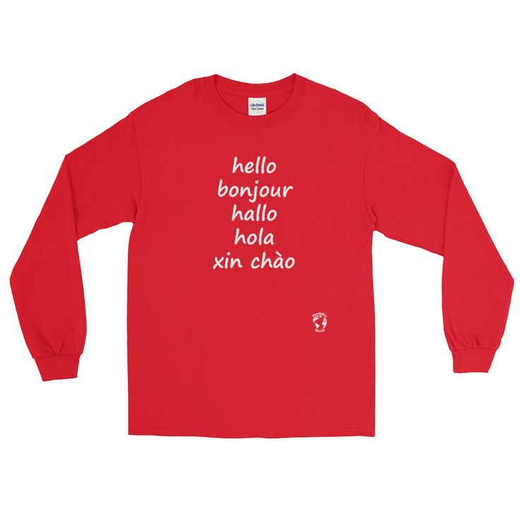 The 25 best hello in spanish ideas on pinterest say hello in hello in english french german spanish vietnamese long sleeve t shirt sciox Image collections