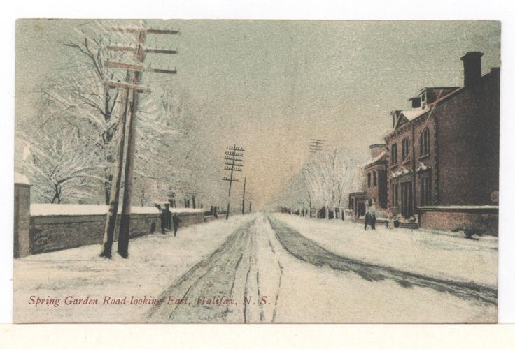 Postcard Spring Garden Road Looking East Halifax Nova Scotia BY Unknown | eBay