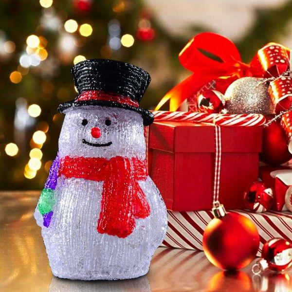 ¿Estás decorando tu Hogar para Navidad? Te proponemos un precioso muñeco de nieve con luces LED. Contiene 32 luces que brillan en la noche y se reflejan a través de una capa translucida y brillante que dará un ambiente precioso a tu hogar.  Sus medidas son: 17x14x28cm (Largo x Ancho x Alto). Puedes comprarlo online en: https://www.aosom.es/hogar/mu-eca-de-nieves-de-navidad-luces-led-17x14x28cm-decoracion-interior-exterior.html con envíos gratis a España y Portugal en 24h/48h.