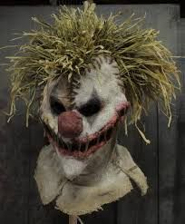 Image result for burlap clown mask