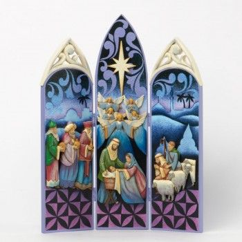 Alleluia, He Is Born-Nativity Triptych, Jim Shore