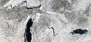 Record Great Lakes Ice Coverage Will Control Spring Weather