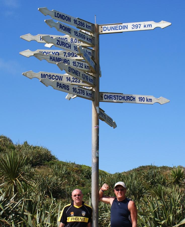 Cape Foulwind Distance Post
