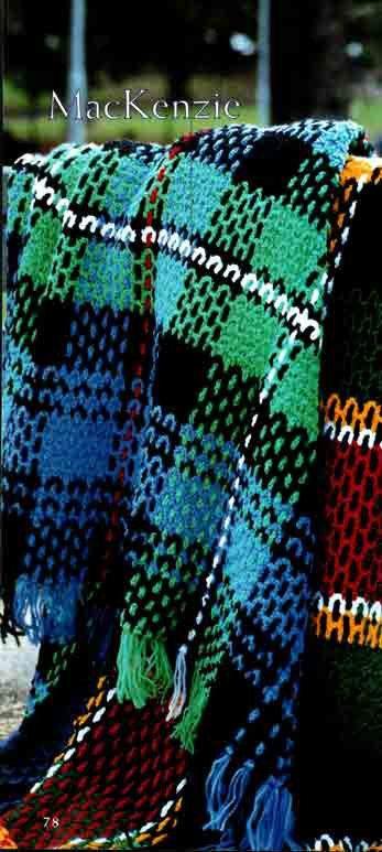 Crochet Pattern PDF: MacKENZIE Tartan Afghan / Blanket / Throw