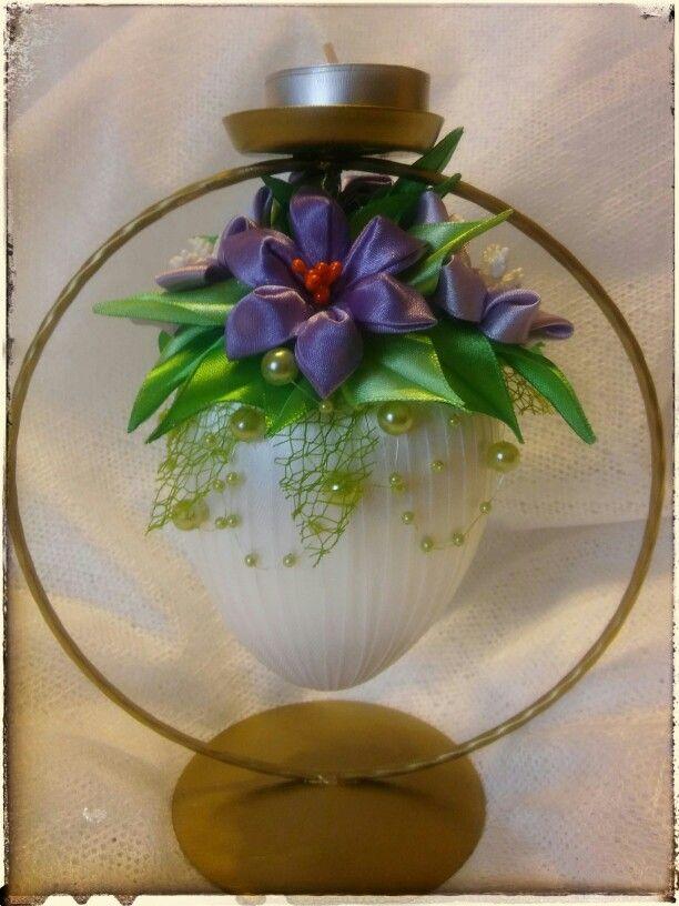 Wielkanoc - jajko kanzashi