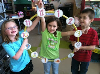 Two Can Do It: Place Value and Telling Time. Lots of great ideas but the hula hoop clock is awesome!