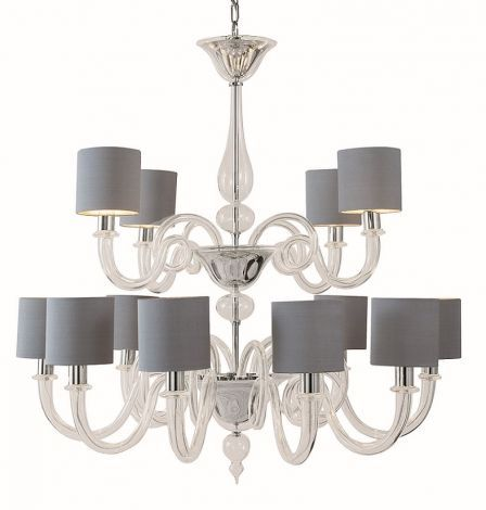 Michelangelo chandelier with drum shades bella figura