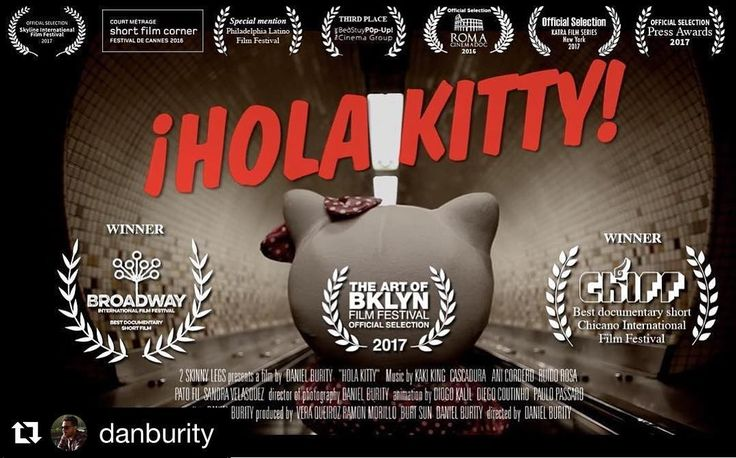 """#Repost @danburity (@get_repost)  Hi guys! My film """"Hola Kitty!"""" will be shown Saturday June 10 4pm at St. Francis College Brooklyn in the awesome Art of Brooklyn Film Festival. Other very cool films by Brooklyn filmmakers will also be shown. For more info and tickets go to: http://ift.tt/2rCYEQL #aobff17 #holakitty #brooklyn #filmmaking #shortfilms #documentary #indiefilm #newyork #immigration #immigrants #indiefilmmakingOriginal photos posted by The Art of Bklyn Film Festival aobff.org"""