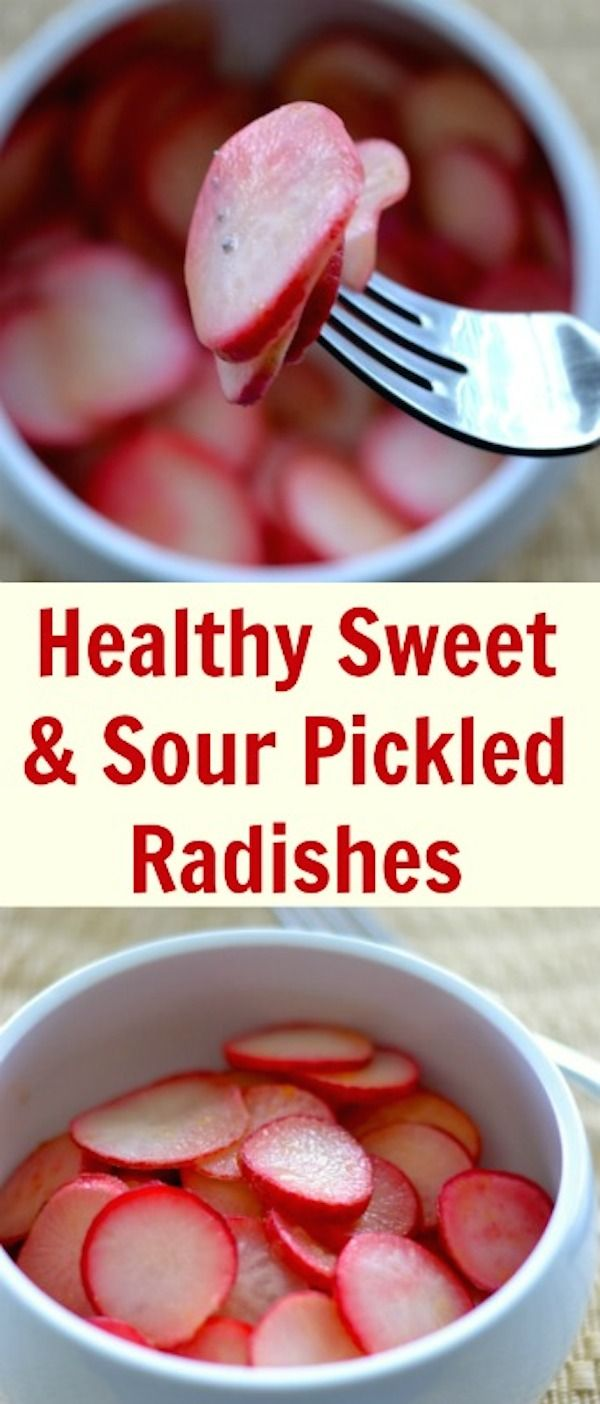 Healthy Sweet And Sour Pickled Radishes