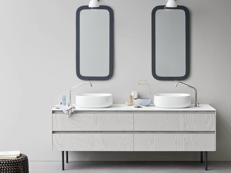 Double vanity unit with drawers Moode Collection by Rexa Design | design Monica Graffeo