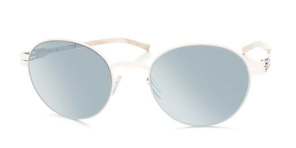Ic! Berlin M1237 Claude Off-White - Teal Mirror Sunglasses