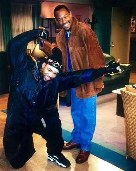 Martin Lawrence & Method Man on the set of the sitcom Martin