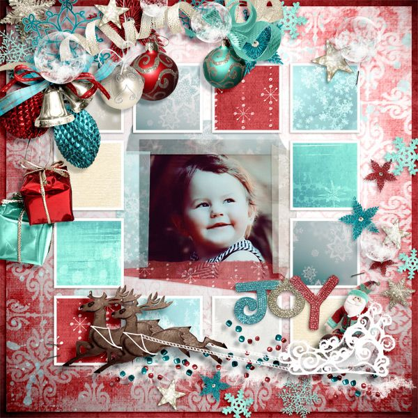 My granddaughter Credits: Ho Ho Ho : Samal Designs  http://samaldesigns.com/shop/index.php/tag/product/list/tagId/45/  Fuss Free: Capture Your December 4 Templates; Fiddle-Dee-Dee Designs