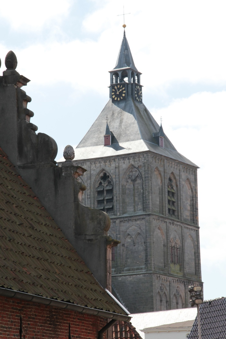 Plechelmus basilica, Oldenzaal. Twente, the Netherlands. View from the garden of the Palthehuis (Palthe house 2013)