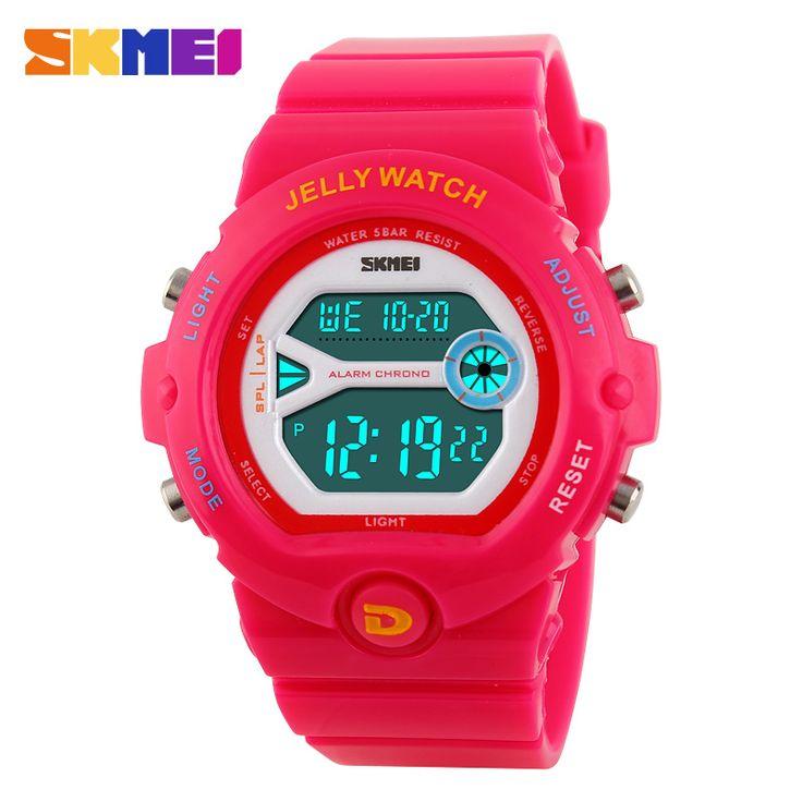 Мода Skmei люксового бренда женщины спортивные часы из светодиодов электронные цифровые часы 50 м водонепроницаемый наружный одеваются наручные часы 4 цветов #women, #men, #hats, #watches, #belts, #fashion, #style