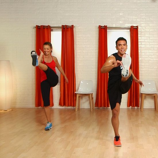 Kick and Punch Your Way to Fitness With Crunchs Cardio Tai Box. Ten minutes, but I was dripping sweat at the end of it.