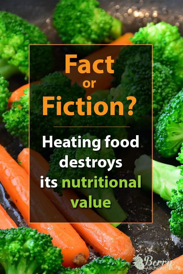 nutritional values of a raw food diet