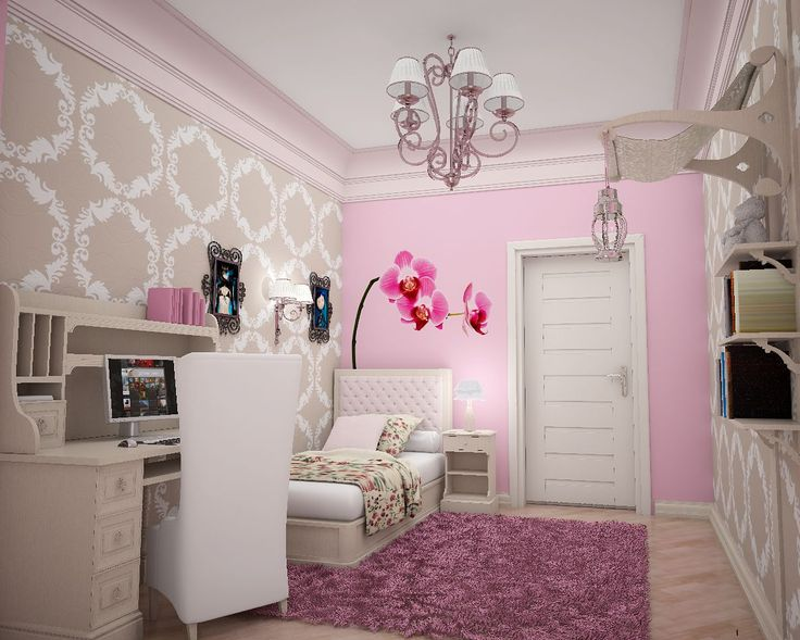 Nice Designs Of Little Girls Room Decor Ideas To Decorate Your Bedroom:  Amazing Picture Design Wallpaper Flowers Pink Themes Designs Teenage Girls  Small ...