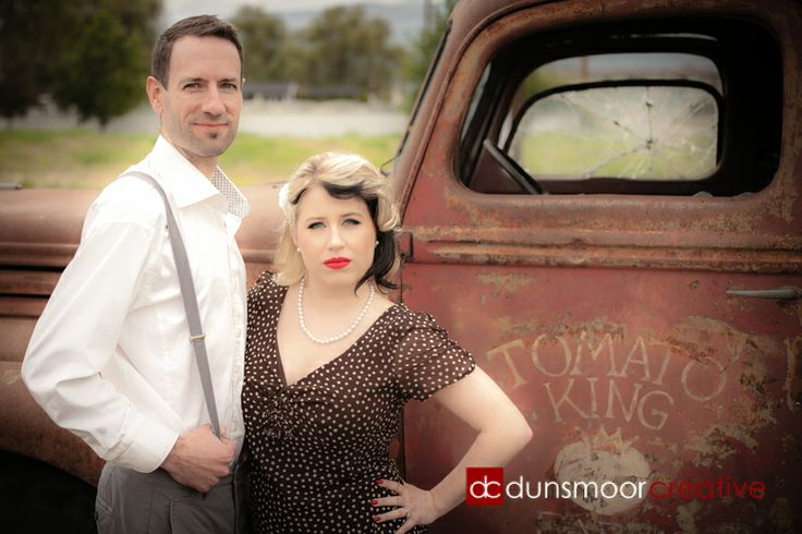 A 1940's style engagement shoot! When we work with a couple for their engagement session, the sky is the limit on creative approaches we can help them develop if they wish to step outside the realm of traditional lifestyle photos. This very artistic duo hatched a plan and, together, we were happy to help make it come together!