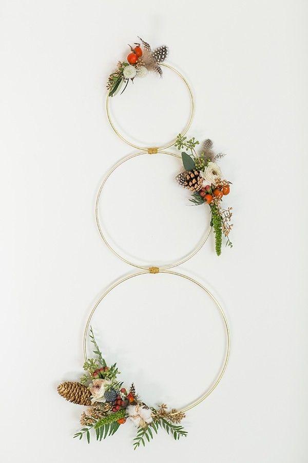 Modern Christmas Wreath                                                                                                                                                                                 More
