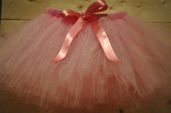 Pink Tutu with Satin Bow dressing up tutu girls by BeautifulGreys, £15.00
