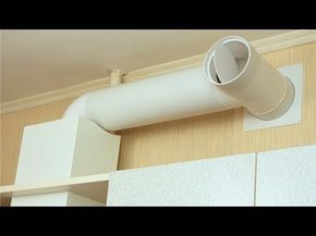 Монтаж простой и эффективной вентиляции в частный дом. - YouTube