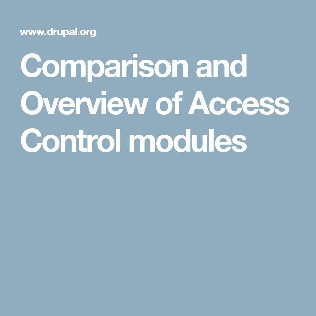 Comparison and Overview of Access Control modules