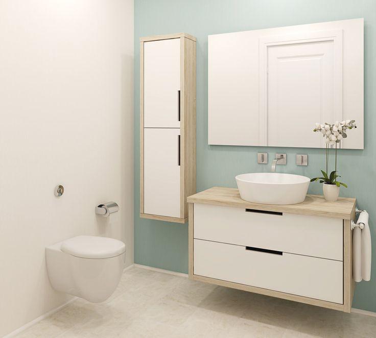 Jung, frisch, peppig - ein passendes Badezimmer für junge Leute #Badezimmer #WC #Waschtisch #IBadideen #Einrichtung #Zuhause #Calmwaters #neu #günstig #Toilette #home #decor #interior #design #bathroom