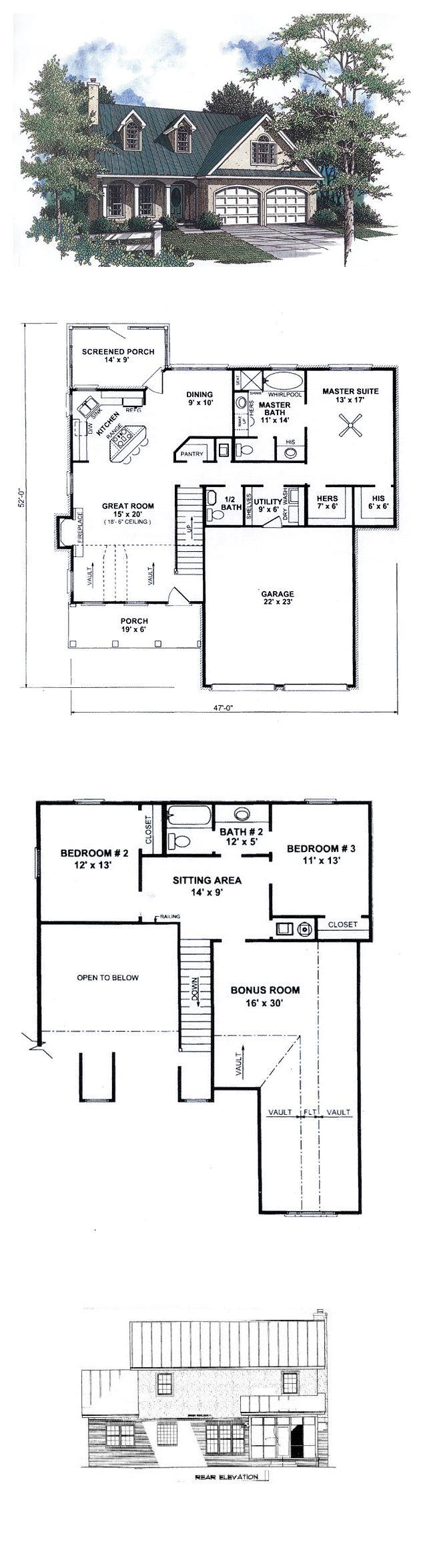 European House Plan chp 14541 16 best European
