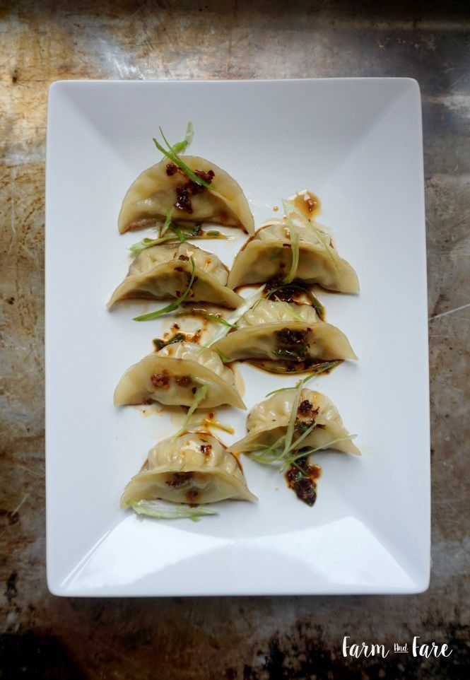 Potstickers with Chili Garlic Dipping Sauce • Farm and Fare