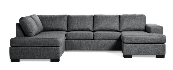 En liten och lättplacerad 3-sits soffa med divan och schäslong som finns i höger eller vänster utförande. Komplettera gärna med en nackkudde.