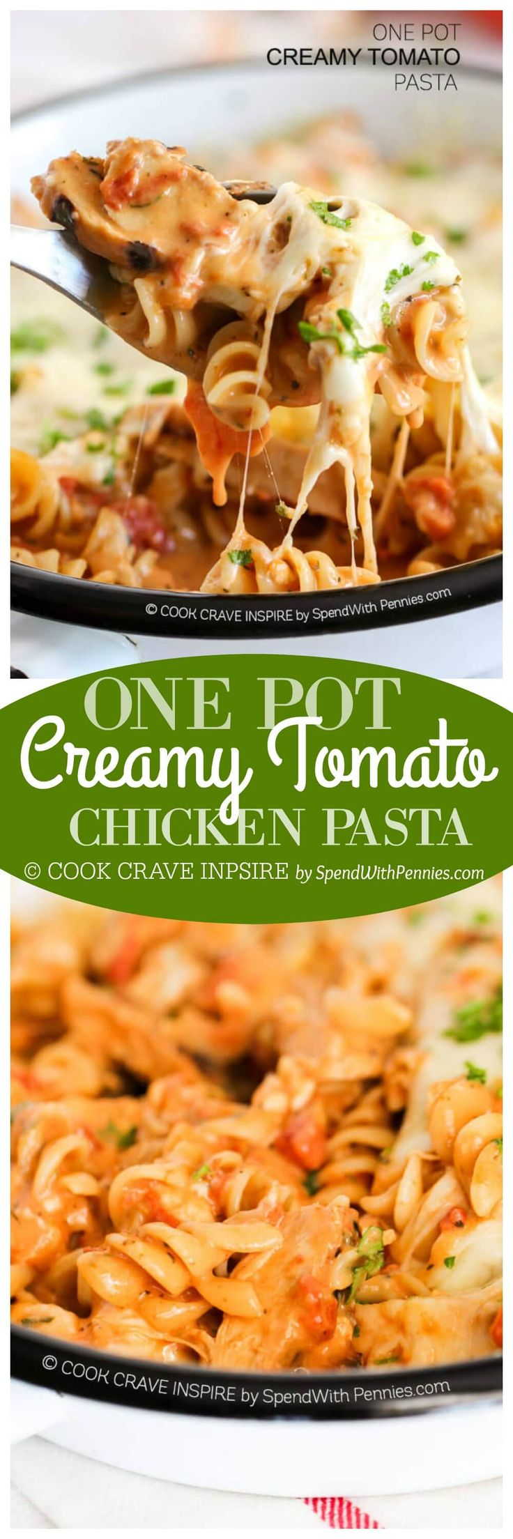 One Pot Creamy Tomato Pasta! This is one of my favorite one pot pasta recipes…