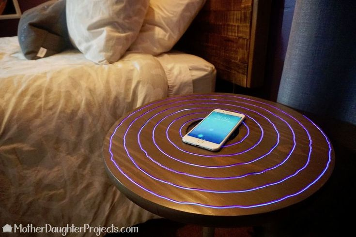DIY Wireless Charging Neon Nightstand