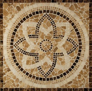 celtic ceiling medallions | Celtic Medallion Brown Medallion Series Polished Stone tropical-tile