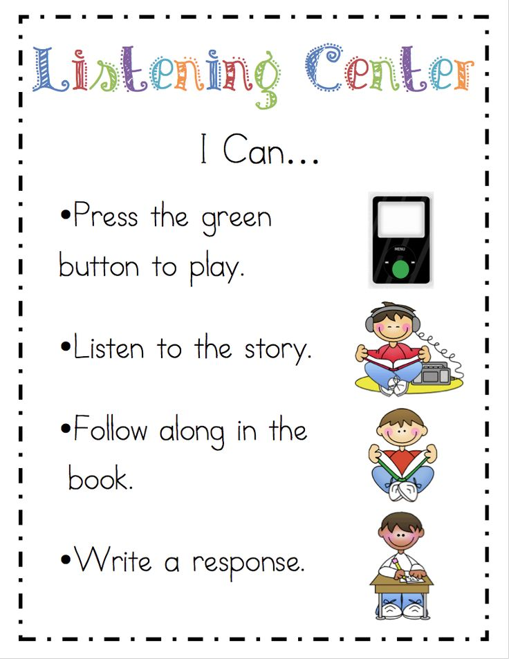 literacy i can posters for centers from Mrs. Ricca's Kindergarten