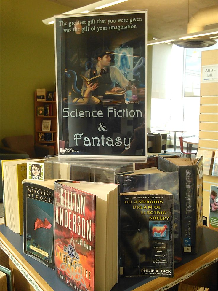Science Fiction & Fantasy August book display @ St. Thomas ...