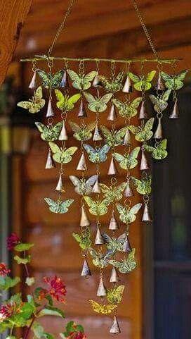☮ American Hippie Bohéme Boho Lifestyle ☮ Windchimes - Butterflies