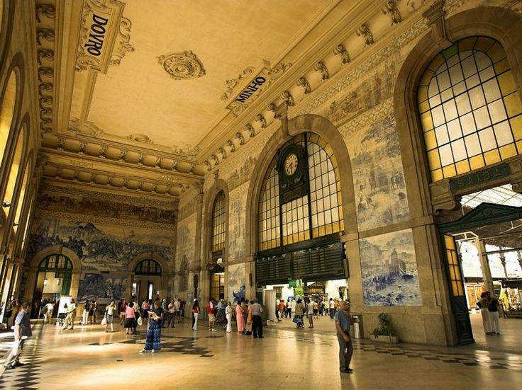 Photos: The World's Most Beautiful Train Stations : Condé Nast Traveler  São Bento Train station in #Porto is one of them  #Portugal
