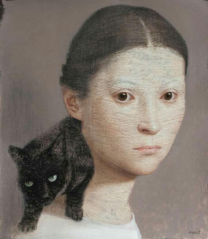Vladimir Dunjic...Woman and Feline.