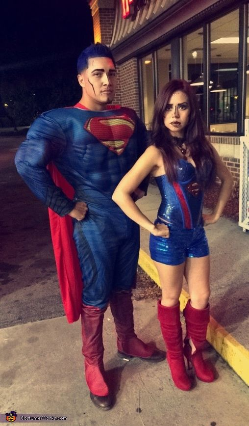 supergirl superman costume superman stuffcouple costumeshalloween 2016halloween costumessupergirlcostume ideashomemade - Halloween Costumes Idea For Couples