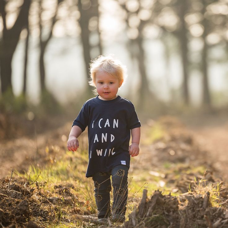 I Can and I Will T-Shirt | Nothing's going to stop me now. Capture that unique sense of dogged determination with this signature tee in soft, pure 100% cotton. We've all been there, and this signature Kidult and Co design is one for the child who's definitely on their way. Match their boldness with a minimal message in a choice of four monochrome t-shirt combinations | www.kidultand.co